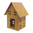 wholesale Home & Living: Metal house for candle, height 35cm, length 19x19c